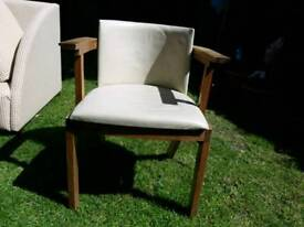 White leather chairs mint condition