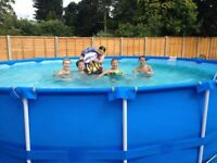 Complete swimming pool (18ft) set up