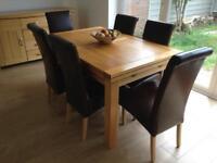 "Dorset 4'7"" solid oak extending table Oak Furniture Land"