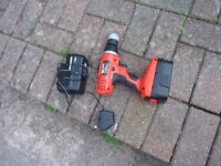 black and decker drill / driver 18v