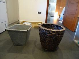 Two indoor plant pots