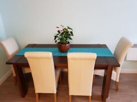 DINING TABLE AND WARDROBE