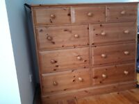 Solid wood chest of drawers that is in very good condition