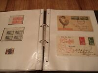 Stamp Collection Item 3 Album- Various 1940's/1980's stamps/sets/first day covers