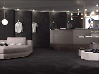 EXCLUSIVE WALL & FLOOR PORCELAIN TILE FROM SPAIN • WHITE/GREY/BLACK 60x60 • £40,76 m2