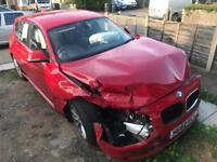 BMW 116D Diesel 5 Door Hatchback - Damaged / Salvage (Unrecorded)