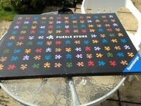 Puzzle board, puzzles and sorting trays