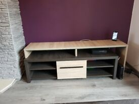 Solid Oak TV Stand and Coffee Table set.