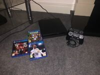 PS4 Slim 500gb + two controllers and games