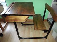 antique single school desk