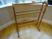 Pine Wooden Towel Rail - Free Standing