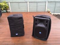 2x RCF Art 325A Powered Speakers, with gig bags