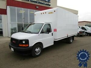 2017 GMC Savana G3500 DRW w/16' Unicell Van Body & Pull Out Ramp