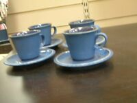 Classic Blue Denby Cups and saucers