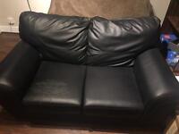 Black double seat sofa