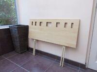 Single bed maple effect wooden headboard