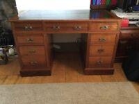 Antique twin pedestal desk