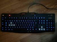 Gaming keyboard with LED light