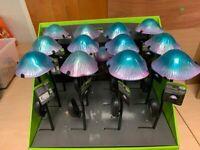 Mushroom solar garden light £5 EACH