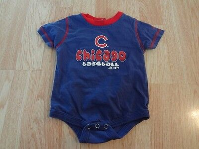 Infant/Baby Chicago Cubs 6/9 Mo Creeper One-Piece (Royal Blue) Adidas ()