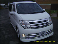 nissan elgrand rider s autotech 30000 miles motd till july immaculate condition for year