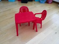 Table and 2 chairs - collection only