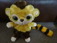 New Aurora World Yoo Hoo and Friends Soft Toys Ring Tailed Lemur Plush Large Google Eye Only £3 gift