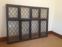Large Edwardian Oak Framed Window