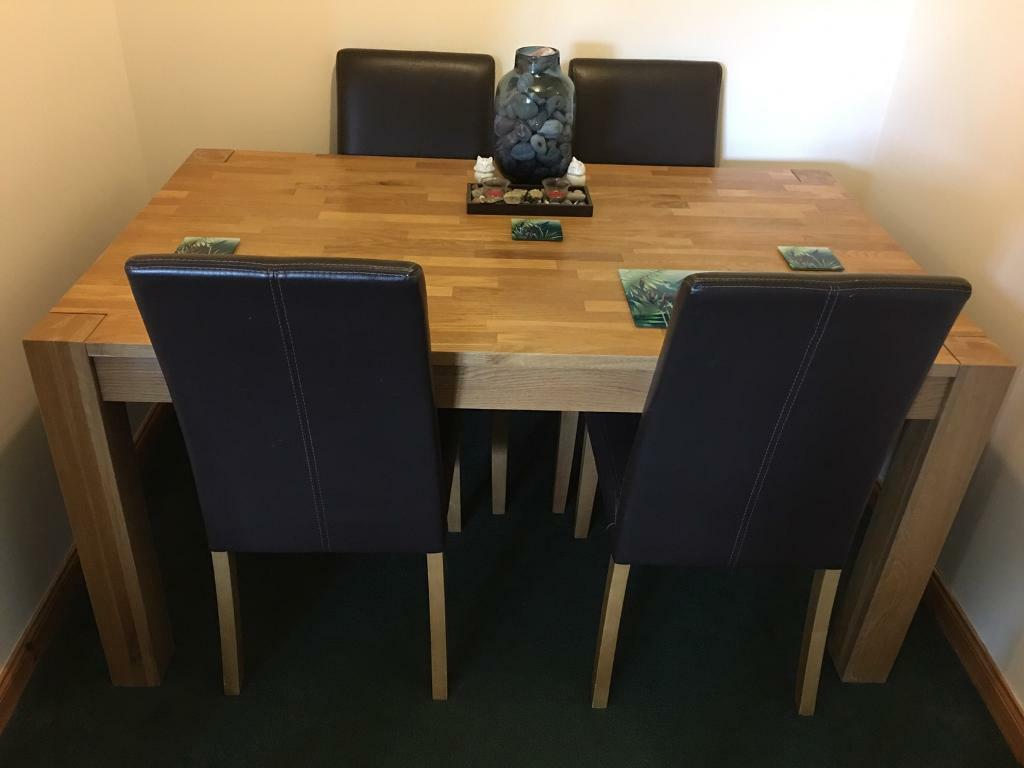 Sensational Solid Wood Dining Table Chairs In Inverness Highland Gumtree Download Free Architecture Designs Grimeyleaguecom