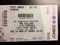 1 x Killers ticket - Aberdeen