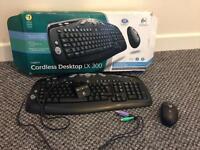 New Logitech cordless desktop lx 300 mouse and keyboard