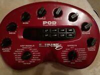 Line 6 POD The Original Guitar Multi AMP tone and Effects Processor P.O.D.