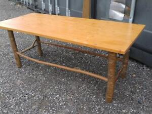 Oakville RUSTIC COFFEE  TABLE or BENCH SEAT Tree Branch Legs OOAK Pine Live Edge Primitive Farmhouse Cottage