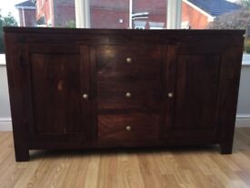 Solid wood antique side board or TV cabinet