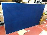 Aluminium Framed Felt Notice Pin Board For Office Garage Bedroom Store Room - 120 x 180 - Blue