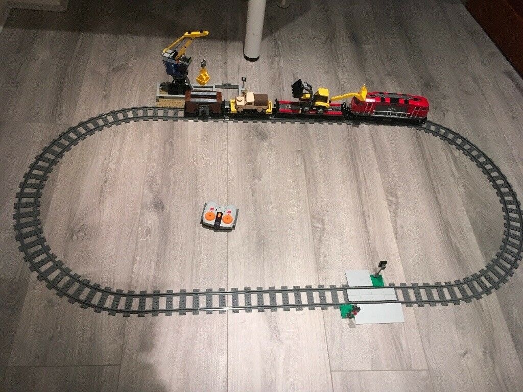 Lego city heavy-haul train remote control.