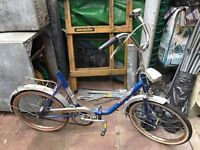"VERY RARE 1950's ""EXCLUSIV"" German Folding Bicycle. Mens & Women's Bike."