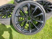 "19"" GENUINE BMW E89 Z4 STYLE 296 ALLOY WHEEL V SPOKE M SPORT REFURBISHED BLACK"