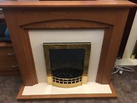 ELECTRIC FIRE COMPLETE WITH SURROUND LIKE BRAND NEW