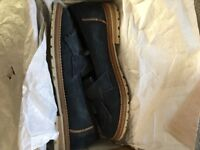 Navy suede size 7 Barbour brogues