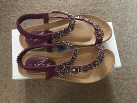 Brand new, unworn Lunar sandals - size 4