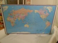 Large Framed World map