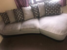 Grey Fabric Sofa, 4 seater, Double Sofabed. Good Condition. One year old