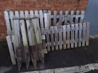 Small picket fence & wide gate,front fencing,fence,timber,posts,wood,pet pen,pet run,border divider