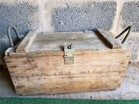 Old Ammo Wooden Case