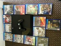 Sony 500gb PS4 + 13 games