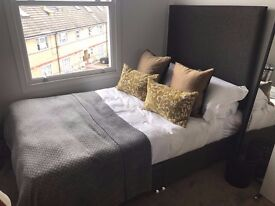 Brand new small double bed with mattress RRP £593