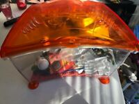Orange Fish Tank with accessories