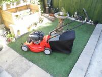 petrol lawn mower in g.order part exchange for your old petrol rotary mower with grassbox possible