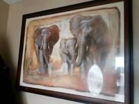 Large picture and frame